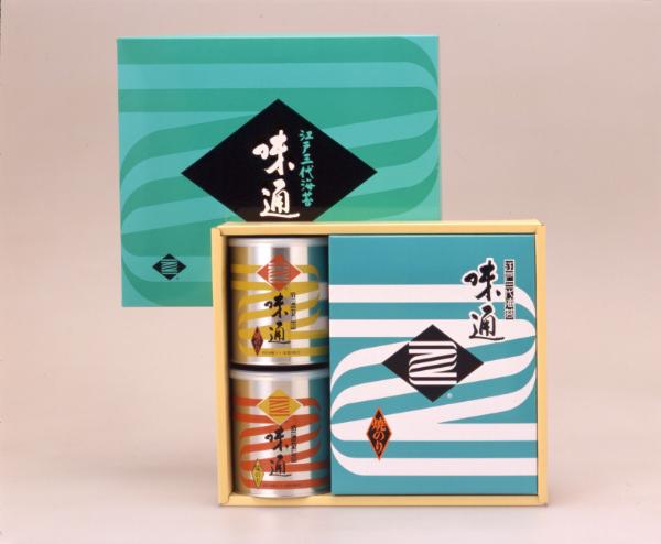 ジャンボ缶2缶・全形焼海苔5帖セット 葉