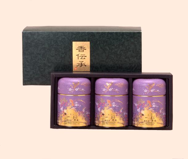 静岡茶三缶箱詰め(100gx3)