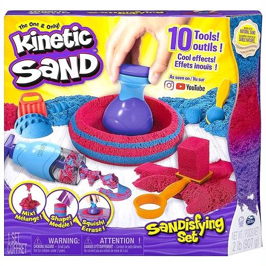 【Kinetic Sand】 キネティックサンド 2LB(907g)付き 10種類のツールセット おもちゃ/家遊び/砂遊び/プレゼント/不思議な砂