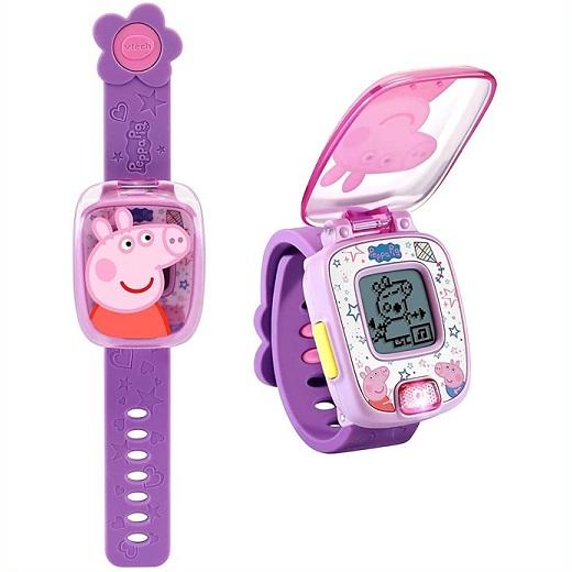 VTech ペッパピッグ ラーニングウォッチ ピンク パープル 販売 Peppa Pig Learning Pink タイマー Watch 時計 アラーム Seasonal Wrap入荷 ストップウォッチ 4種のゲーム