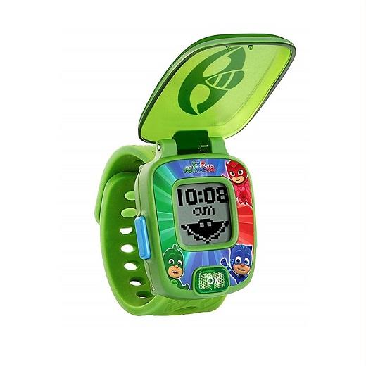VTech パジャマスク ラーニングウォッチ ゲッコー PJ 公式ショップ Masks Super 期間限定送料無料 Gekko タイマー Learning Watch アラーム ストップウォッチ PJマスク 4種のゲーム 時計