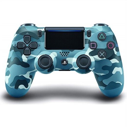 【PS4 純正】 デュアルショック 4 DUALSHOCK 4 ワイヤレスコントローラー ブルーカモフラージュ PlayStation 4/無線/青迷彩/プレイステーション/プレステ