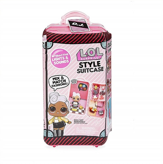 【L.O.L. Surprise 】 LOL サプライズ スタイル スーツケース D.J Style Suitcase Interactive Surprise - D.J /おもちゃ/人形/女の子用/プレゼント/lolサプライズ