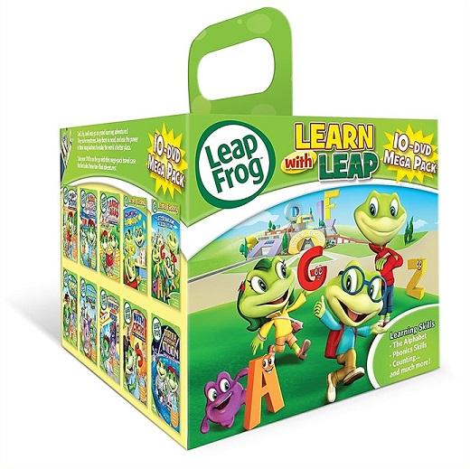 LeapFrog リープフロッグ DVD 10枚セット 祝開店大放出セール開催中 メガパックセット DVD-BOX 英語学習 キッズ 子供 幼児 アルファベット 単語 開店記念セール こども