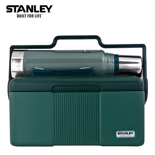 【STANLEY スタンレー】Classic Lunch Box Cooler クラシック ランチボックスクーラー6.6L 1L ステンレスボトル セット 真空断熱ステンレスボトル 1000ml/弁当箱/水筒/タンブラー/魔法瓶/保温/保冷/キャンプ/スポーツ観戦/アウトドア/釣り/バーベキュー