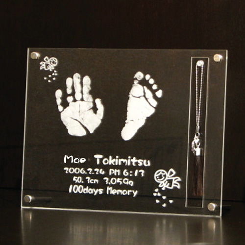 伝統工芸士作 赤ちゃん筆 【送料無料】(胎毛筆・誕生記念筆・手形足型)熊野筆の技術で制作する赤ちゃん筆翔コース アクセサリー軸/ta-syo