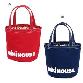 【送料無料】ミキハウス(おすすめ)mikihouseバケツ型 ロゴトートバッグ日本製