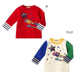 ミキハウス(mikihouse)汽車ポッポ プッチー長袖Tシャツ日本製(110cm)