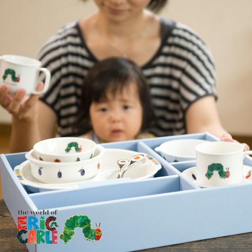 【送料無料】無料ラッピング出産祝い お食い初め 食器セット|はらぺこあおむし のびのびセット|