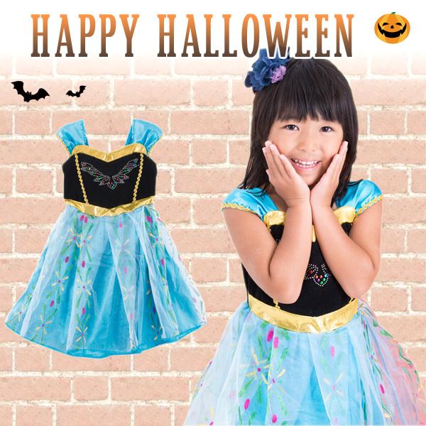 Kids fancy dress girlsu0027 dress costume for Helloween look like u0027Anna / Disney Frozenu0027 for party literary exhibitions blue / Sizes 60 70 80 90 100 110 120 ...  sc 1 st  Rakuten & Shussanjunbi Akachan Market   Rakuten Global Market: Kids fancy ...