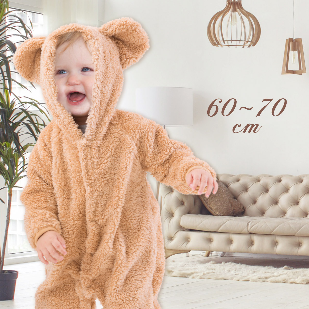 9f84c19dcd63 Akachan Market  Costume bear bulky rompers baby winter clothing ...