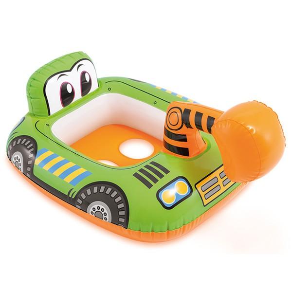 大人気 キディフロート 足入れタイプ浮き輪 メール便OK INTEX 浮き輪 通常便なら送料無料 子供用ビニールプール 水遊び ショベルカー 市販 インテックス キディフロート#59586 ウキワ