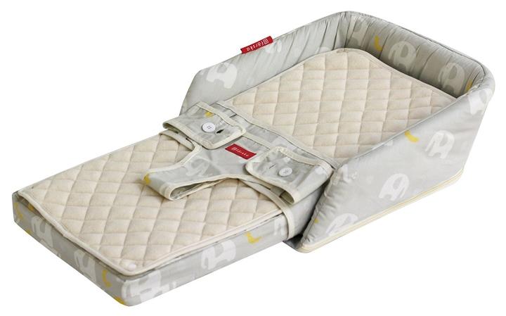 ファルスカ ベッドインベッド フレックス EL&BA(エレファント&バナナ)(746085)コットンタイプ添い寝布団セット/グランドール/farska/ベッド小物/ベビー用品/寝具/布団/クッション