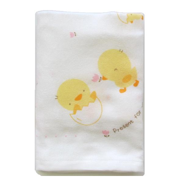 ご出産準備品 赤ちゃんのお世話必需品 日本製 シンクビー ヒヨコ柄 裏ガーゼタオル 02P03Dec16 メーカー公式ショップ 百貨店 大判正方形