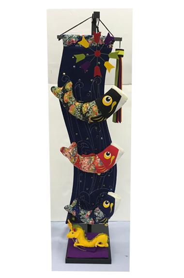 【五月人形】つるし飾り 室内鯉 昇龍の瀧(中) 鯉のぼり ちりめん こどもの日 室内用 コンパクト 端午の節句 初節句