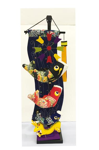 【五月人形】つるし飾り 室内鯉 昇龍の瀧(小) 鯉のぼり ちりめん こどもの日 室内用 コンパクト 端午の節句 初節句