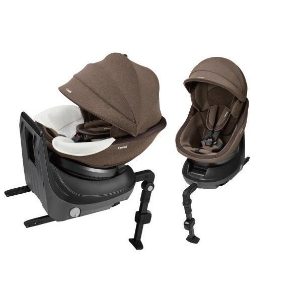 【コンビ】ホワイトレーベル クルムーヴ スマート ISOFIX エッグショック JJ-650 ブラウン(BR)/ISOFIX固定タイプ/新生児から4才頃まで WHITELABEL