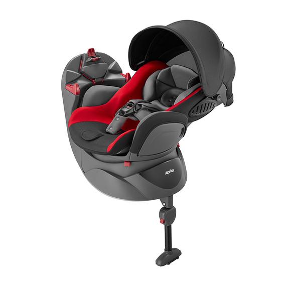 【アップリカ/Aprica】ディアターンプラス プレミアム レッドグレー RD 2018年/deaturn plus/チャイルドシート/回転式ベッド型/新生児用/乳児用