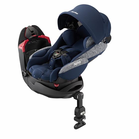 【アップリカ/Aprica】フラディア グロウ AC  ネイビーオーシャン NV シートベルト 2018年/Fladea チャイルドシート/ベッド型/新生児用/乳児用