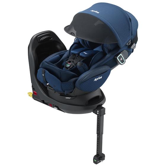 【アップリカ/Aprica】フラディア グロウ ISOFIX 360° セーフティー プレミアム ネイビーウォーター NV 2018年/Fladea チャイルドシート/ベッド型/新生児用/乳児用