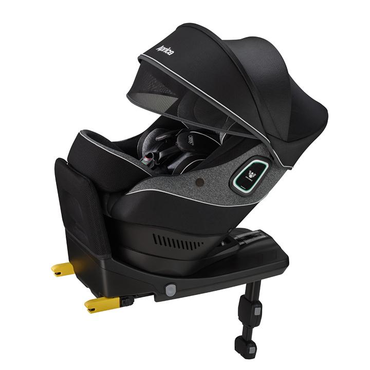 【アップリカ】クルリラ プラス 360° セーフティー ABブラックシャドー BK/2020年/回転式/ISOFIX/新生児チャイルドシート/カーシート/メーカー保証付き 【Aprica】