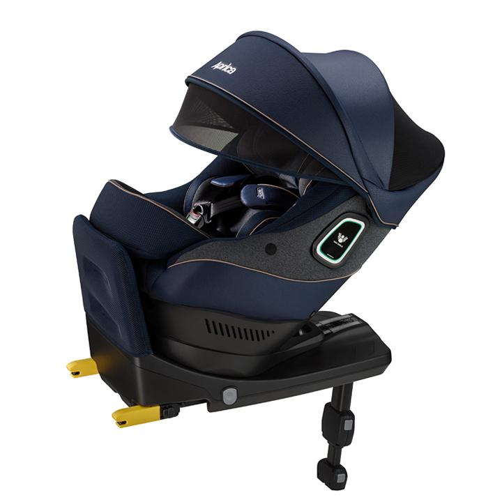 【アップリカ】クルリラ プラス 360° セーフティー ABサファイアブルー NV/2020年/回転式/ISOFIX/新生児チャイルドシート/カーシート/メーカー保証付き 【Aprica】