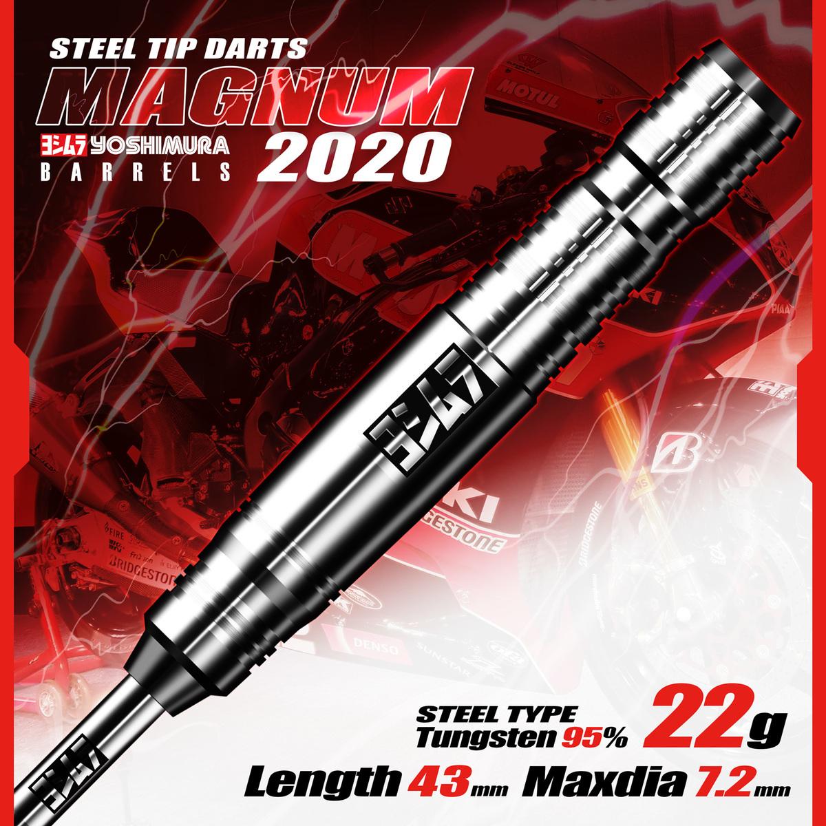 2020モデル第2弾 送料無料 休日 ダーツ バレル ヨシムラバレルズ MAGNUM 新品 YOSHIMURA 標準装着 2020 Steel NEEDLE