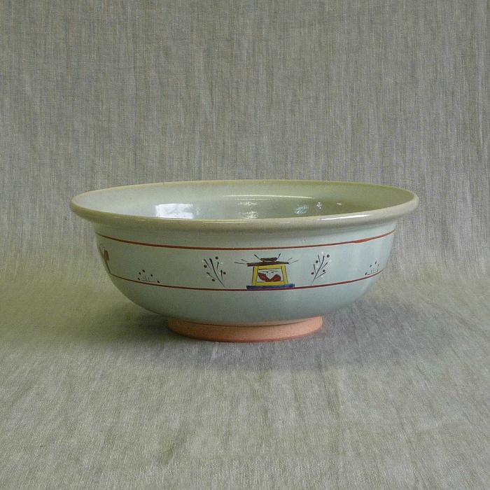 赤膚焼 奈良絵菓子鉢 昭山窯 青 奈良絵 菓子鉢