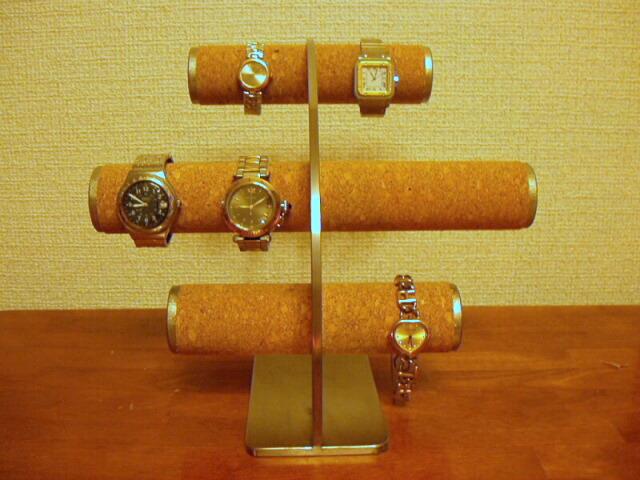 時計スタンド 腕時計 スタンド 8本用 誕生日プレゼント ノベルティ ウォッチスタンド ケース 時計置き 時計ケース ハンドメイド オーダーメイド 記念品 ギフト 贈り物 時計 飾る 腕時計 収納 送料無料8本も飾れてステンレスが非常に綺麗なコルク貼り腕時計スタンド