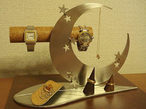 プレゼントに 時計スタンド 送料無料リーフムーンアクセサリースタンドトレイ付
