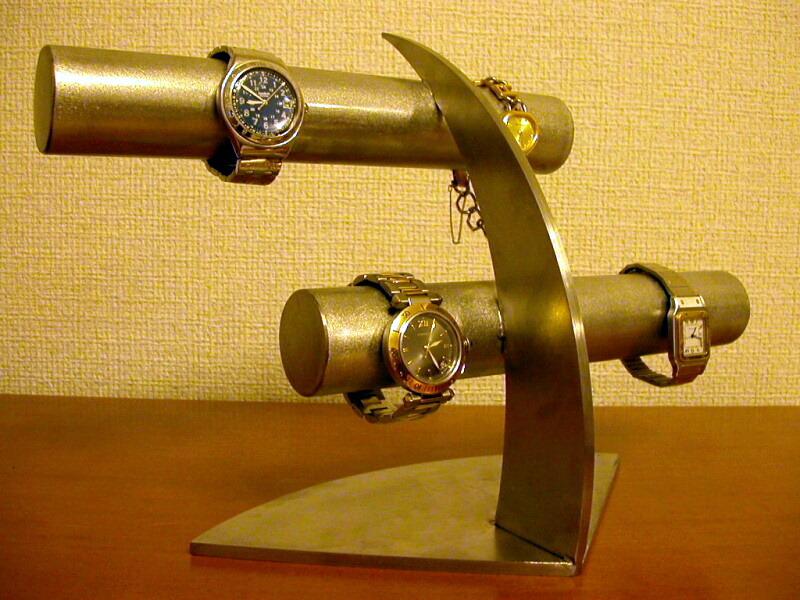 時計スタンド ステンレス6本掛け腕時計スタンド