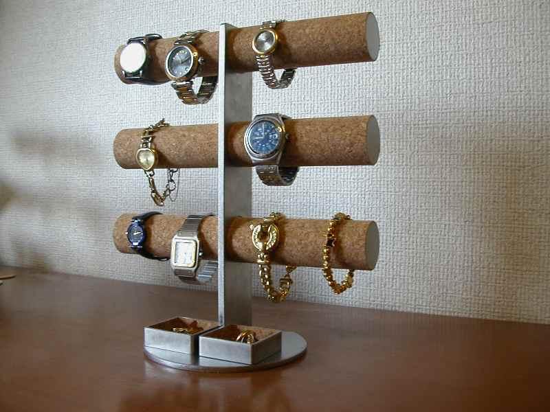 腕時計スタンド 12本掛け腕時計タワースタンドダブルトレイバージョン