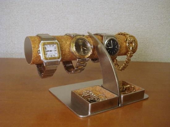 時計スタンド アクセサリーダブルトレイ腕時計スタンド