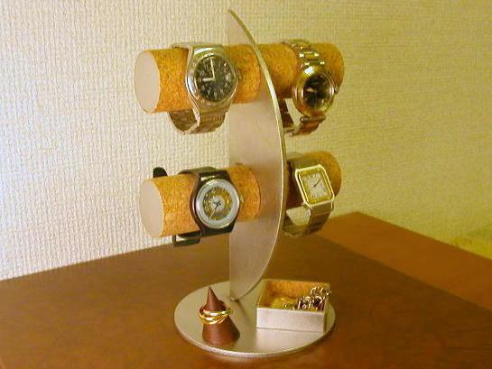 腕時計スタンド 三日月腕時計スタンド ひし形トレイ指輪スタンド付きPwZuTOXki