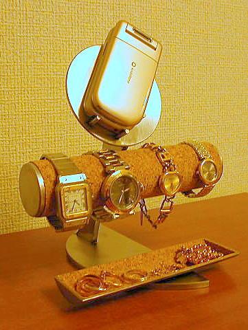 腕時計スタンド 携帯電話&小物入れ腕時計スタンド