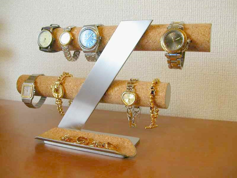 時計スタンド 腕時計 スタンド 2本用 誕生日プレゼント ノベルティー ウォッチスタンド ケース 時計置き 時計ケース ディスプレイスタンド ギフト 贈り物 時計 飾る 腕時計 収納 腕時計 送料無料ステンレス支柱が綺麗な8本掛け腕時計スタンド ロングトレイ付き