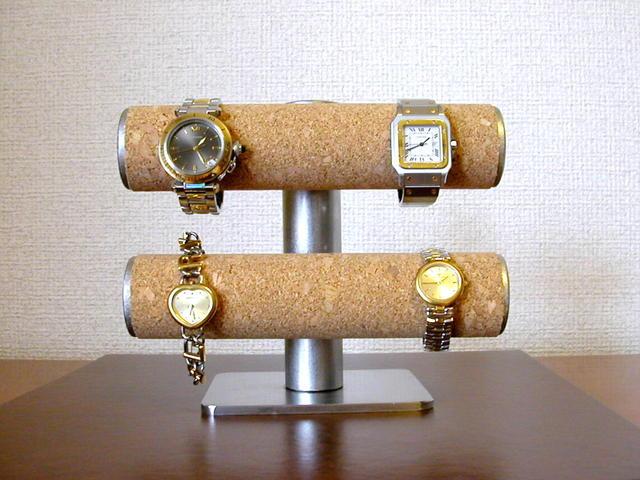 時計スタンド 送料無料可動式腕時計スタンド コルク貼りタイプ