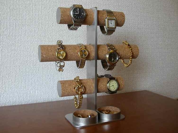 誕生日プレゼントに 腕時計スタンド 3段8本掛け腕時計スタンド丸トレイバージョン