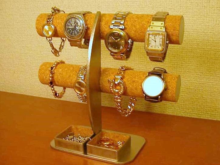 腕時計スタンド 三日月支柱8本掛け腕時計スタンド角トレイ付き