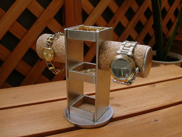 時計スタンド 腕時計 スタンド 誕生日プレゼント ノベルティ ウォッチスタンド ケース 時計置き 時計ケース ディスプレイスタンド ハンドメイド オーダーメイド 記念品 ギフト 贈り物 時計 飾る 腕時計 収納 クリスマス 送料無料3段トレイ2本掛け腕時計スタンド
