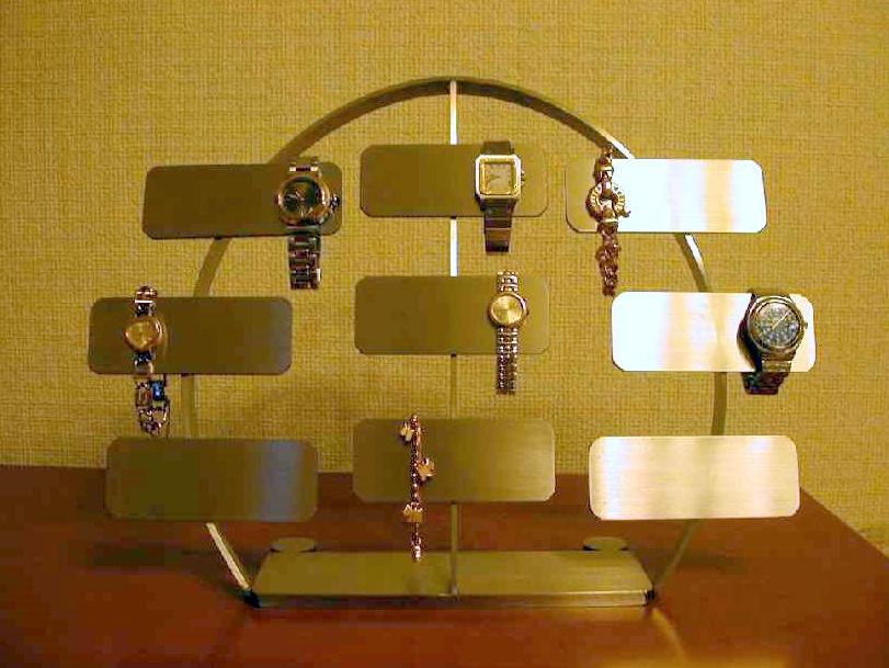 プレゼントに 腕時計スタンド ステンレスバー18本掛け腕時計スタンド