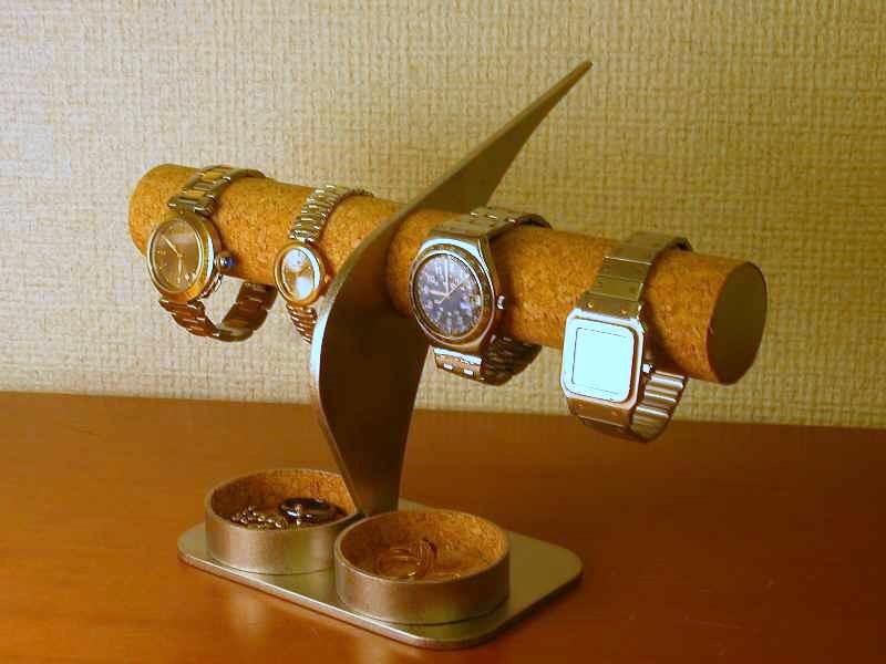 腕時計スタンド インテリア腕時計スタンド 丸トレイ付き