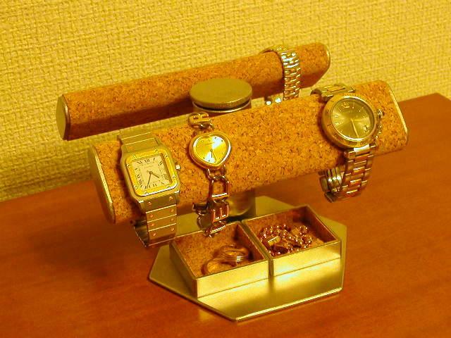誕生日プレゼントに 腕時計スタンド だ円手動式★トレイ付き