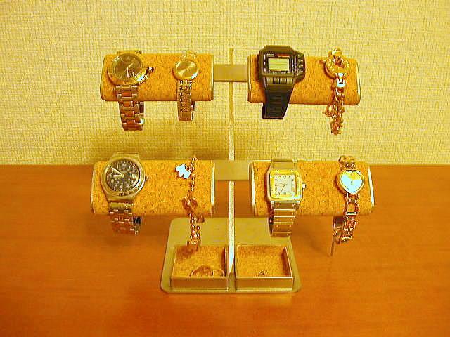 腕時計 スタンド おしゃれ 腕時計 スタンド 8本用 時計 スタンド 腕時計スタンド ウォッチスタンド ケース 時計置き 時計ケース ディスプレイスタンド 時計ラック 腕時計収納 腕時計飾る 時計を飾る 腕時計を飾る だ円パイプ8本掛け腕時計&アクセサリー宝箱スタンド