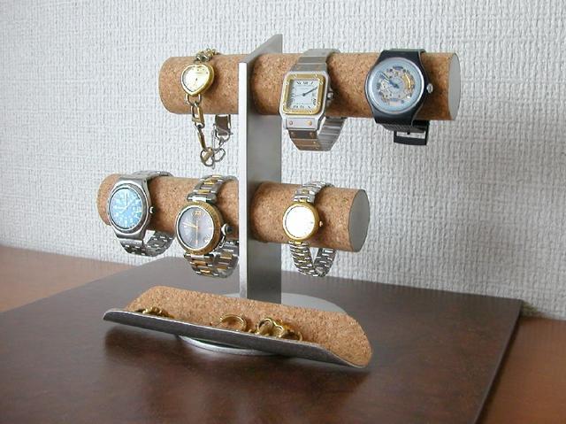 時計スタンド 6本掛け腕時計スタンド ロングトレイタイプ