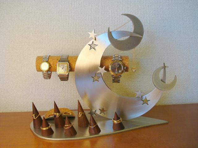 誕生日に 時計スタンド 送料無料リーフトリプルクロスムーンアクセサリースタンド