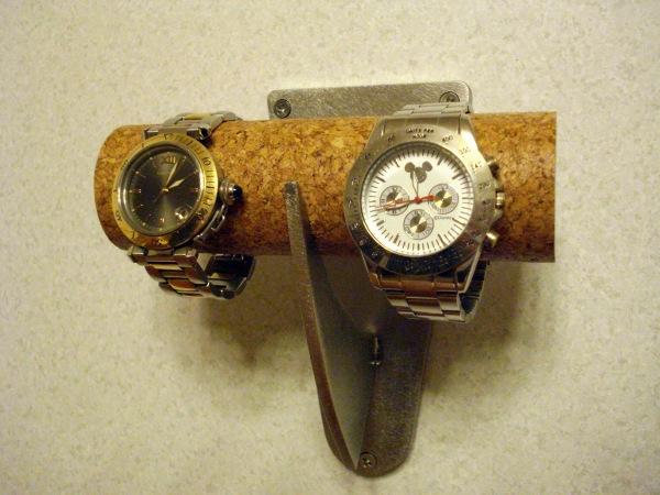 ウォッチスタンド 2本掛け壁付けタイプ腕時計スタンド