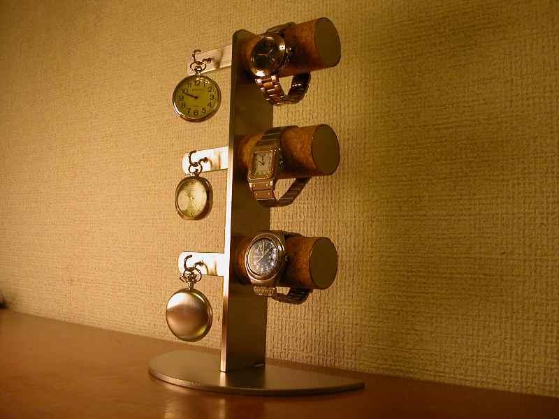 誕生日プレゼントに ウォッチスタンド 腕時計&懐中時計6本掛けスタンダードスタンド