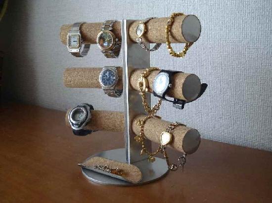 誕生日プレゼントに 腕時計スタンド 12本掛け角度付き★ハーフパイプバージョン