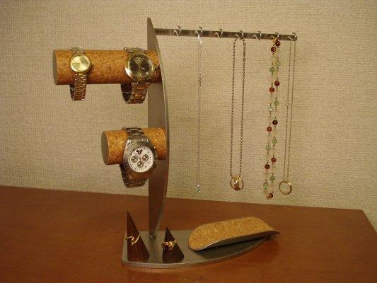 アクセサリースタンド ネックレススタンド リングスタンド 腕時計スタンド ウオッチスタンド ステンレス製 誕生日プレゼント 贈り物 プレゼント 腕時計、ネックレス、指輪コレクションタワー